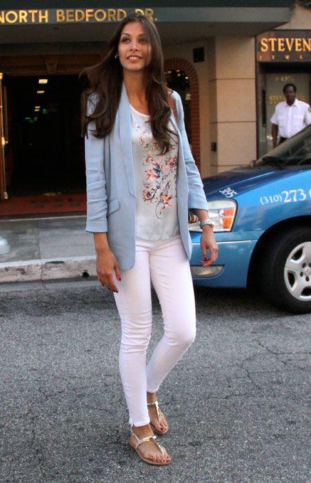 Dayana Mendoza wears Reiss