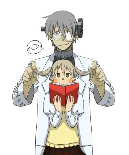 These two are my favorite characters from Soul Eater; Stein and Maka!