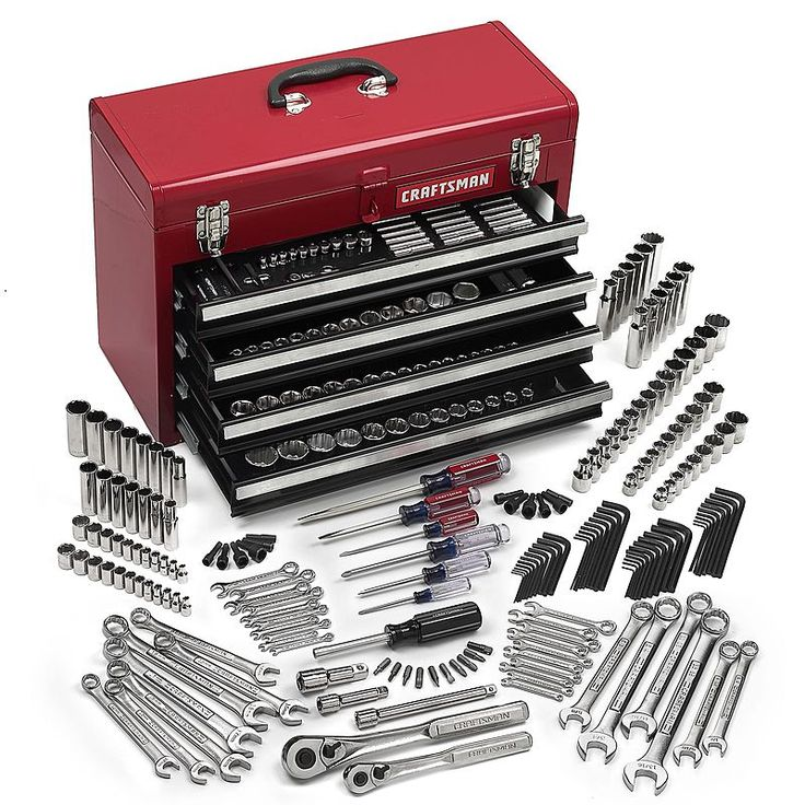 $200 Craftsman 283 pc. Mechanics Tool Set With Tool Box : Sears Outlet