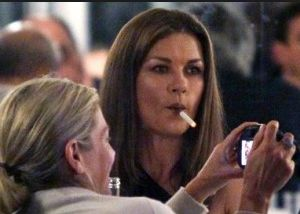 After her award winning role as Velma Kelly in Chicago, fans may think that Zeta-Jones would be another one of those stars invested in keeping her lungs in the best shape possible to further her career. But for Catherine, smoking cigarettes regularly seems to be a much bigger priority in life. 28 Surprising Celebrity Smokers: #19 Will Shock You!!