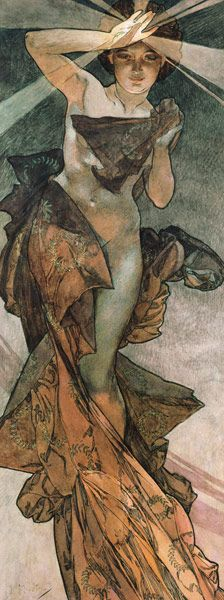 Alphonse Mucha - Stars: The morning star