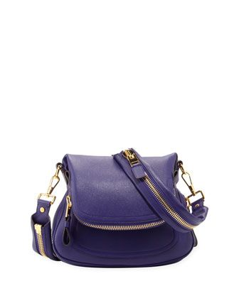 $2,990, Jennifer Medium Leather Crossbody Bag Purple by Tom Ford. Sold by Bergdorf Goodman. Click for more info: http://lookastic.com/women/shop_items/74256/redirect