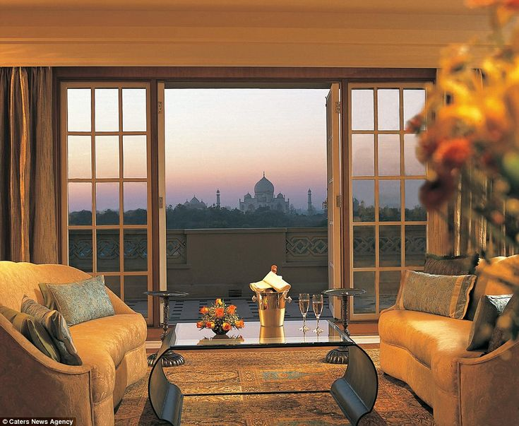 Guests staying at the Oberoi Amarvilas, Agra, India, wake up to the wonderful sight of the Taj Mahal