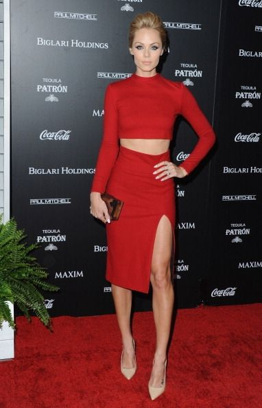 Fabulously Spotted: Laura Vandervoort Wearing Alice + Olivia - Maxim's Hot 100 Women Of 2014 Celebration - http://www.becauseiamfabulous.com/2014/06/laura-vandervoort-wearing-alice-olivia-maxims-hot-100-women-of-2014-celebration/