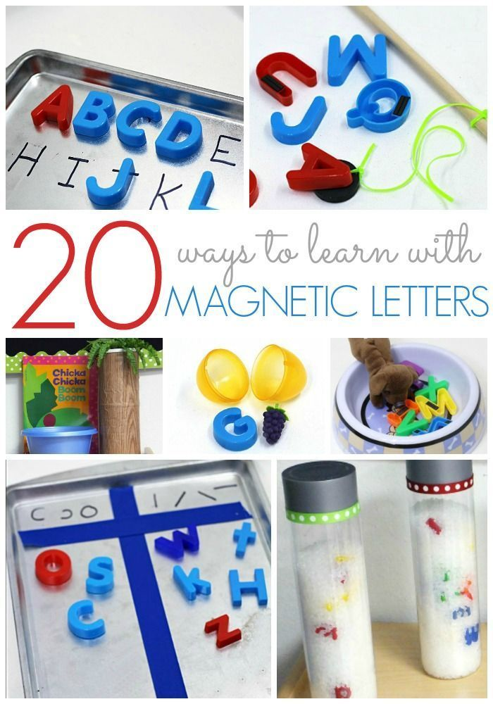 20+ Ways to Use Magnetic Letters. Ideas for teaching the alphabet using magnetic letters in your preschool or kindergarten classroom. Hands-on activities to make learning fun at home or school! - Pre-K Pages