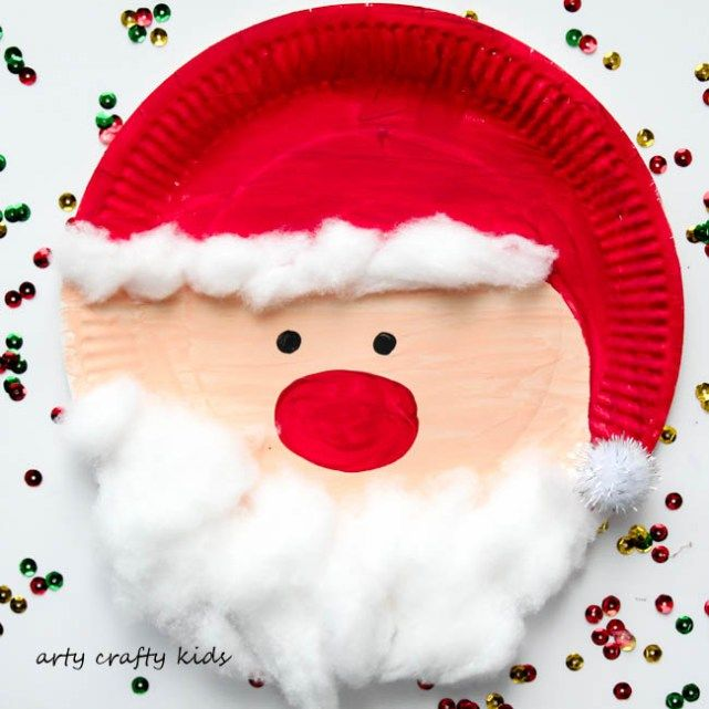 Arty Crafty Kids - Seasonal - Easy Chrsitmas Craft - Paper Plate Santa