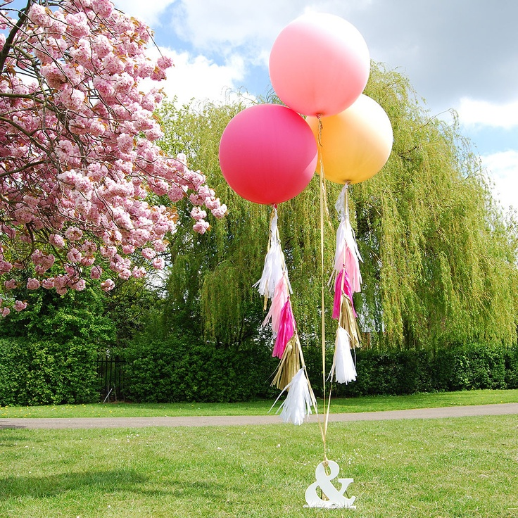 Bright Festival Coloured Giant Balloons with Tassels
