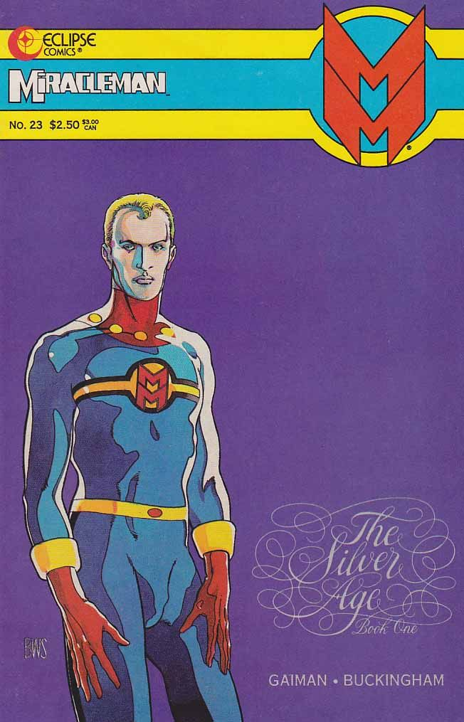 MiracleMan #23 NM $45.00 ~ Marvelman, also known as Miracleman for trademark reasons in his American reprints and story continuation, is a fictional comic book superhero created in 1954 by writer-artist Mick Anglo for publisher L. Miller & Son. Intended as a United Kingdom home-grown substitute for the American character Captain Marvel, the series ran until 1963. He was revived in 1982 in a dark, post-modern deconstructionist series by writer Alan Moore, with later contributions by Neil…