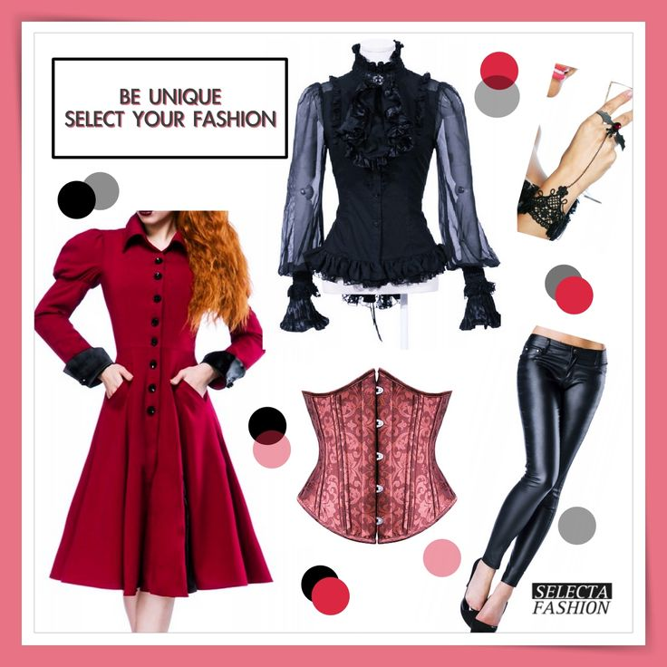 be Unique! Creat your style and select best pieces! by Selecta Fashion We love steampunk and gothic inspiration! Shop here:  Korzet/corset: http://goo.gl/8IyEh2 Kabát/coat: http://goo.gl/EQ3ZC8 Nohavice/pants: http://goo.gl/TVW6iH Náramok/bracelet: http://goo.gl/hvaA01 Blúzka/blouse: http://goo.gl/pDVt3o ‪#‎gotickamoda‬ ‪#‎beunique‬ ‪#‎štýl‬ ‪#‎móda‬ ‪#‎nohavice‬ ‪#‎korzet‬ ‪#‎buďunikátna‬ ‪#‎dnesnosím‬ ‪#‎selectafashion‬