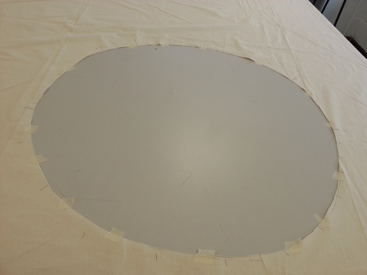first i cut a massive circle out for the toile