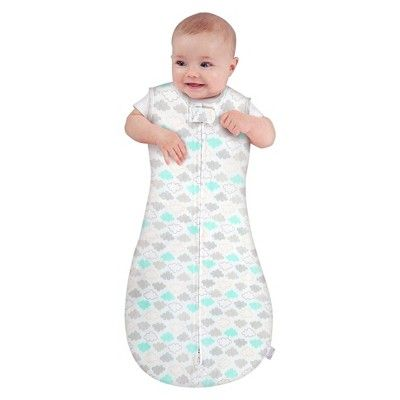 Comfort & Harmony Peanut Sleeping Bag - Cozy Clouds - L, Infant Unisex, Multicolored