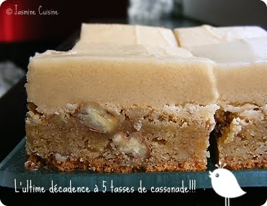 Blondies butterscotch, glaçage au beurre et au sucre brun***