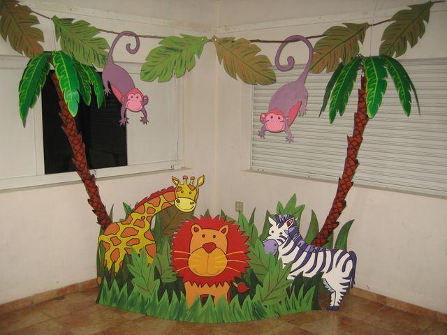 Decoración de cumpleaños de animales de la selva - Imagui