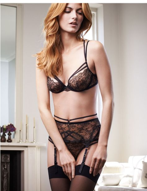 Redhead lingerie models know her