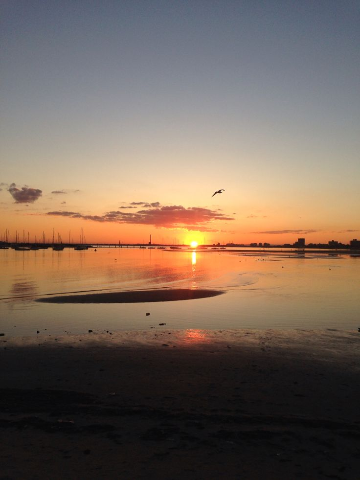 Beautiful sunset in Melbourne