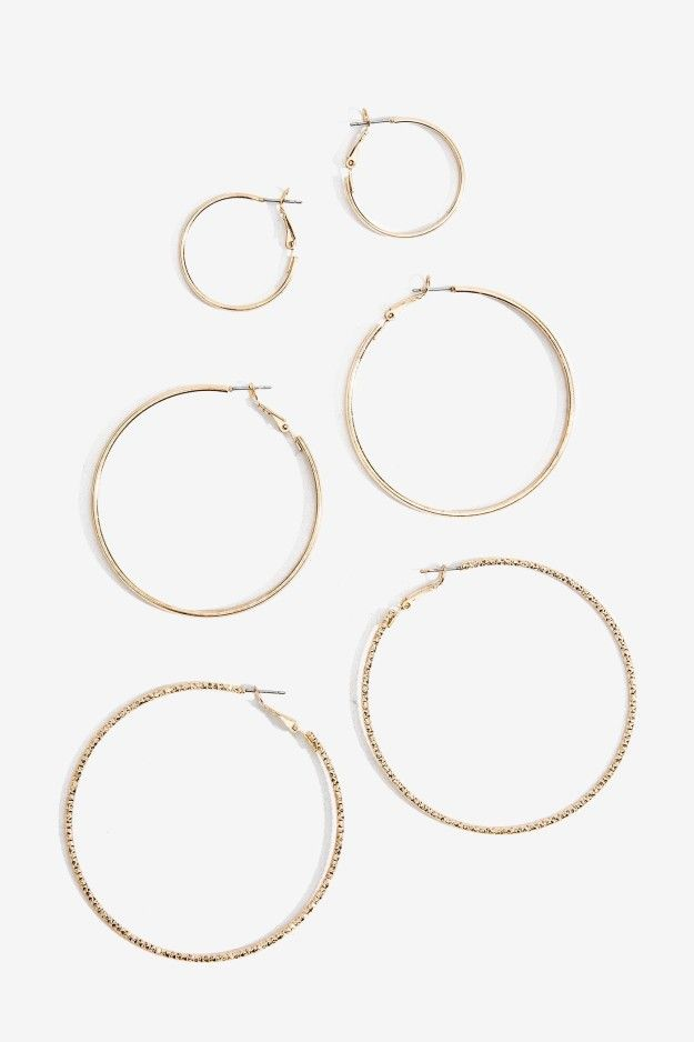A trilogy of fine hoops that you'll always circle back to. | 31 Super Cheap Earrings For People Who Always Lose Earrings
