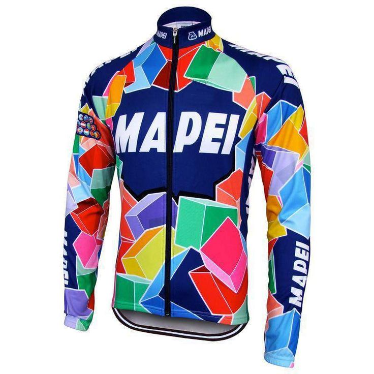 Retro 1993 Mapei Long Sleeve Cycling Jersey-Online Cycling Gear