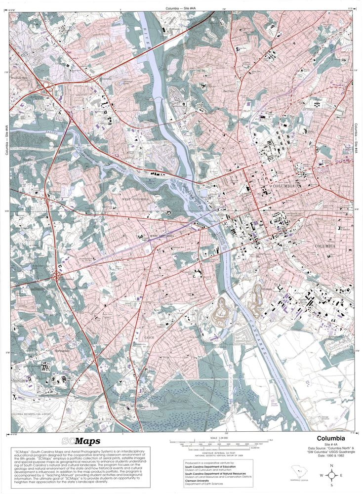 Best Columbia History Project Images On Pinterest Columbia - Columbia sc map