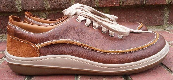Men's Clarks Gait Mix Tan Brown Leather Lace Up Size 10.5 D US 44 EU MSRP $130  #Clarks #FashionSneakers
