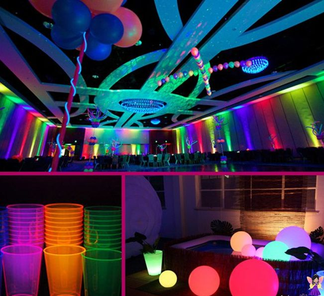 Preferenza 28 best Tema: Festa Neon images on Pinterest | Neon party  YG64