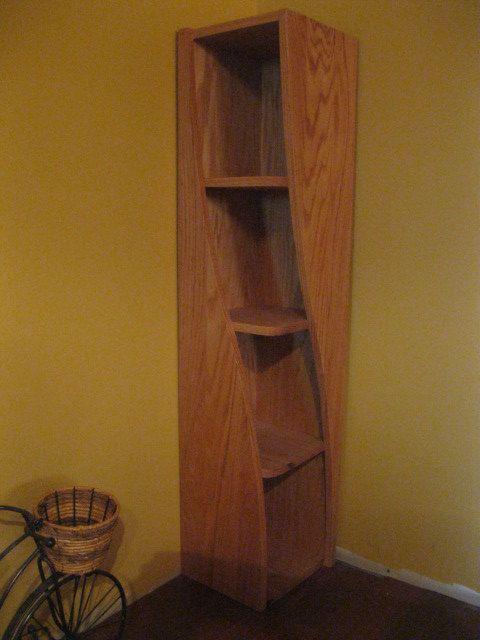 Corner Shelf with a Twist
