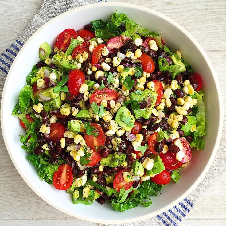 Everything you love in a burrito bowl, only without the rice. Get the recipe: Southwestern Chopped Salad   - Delish.com