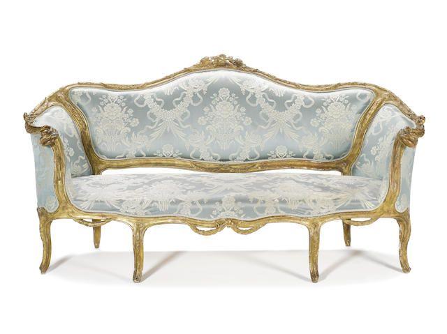 an italian 18th century giltwood canap en corbeille. Black Bedroom Furniture Sets. Home Design Ideas