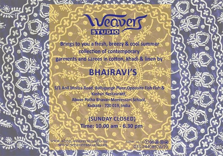 Weavers Studio brings to you the finest chikankari from Bhairavi, Lucknow. Find her stuff on display at our store.
