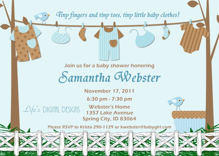 baby shower invitations for boys