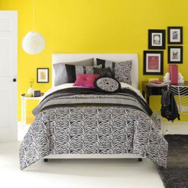 Seventeen Ciera Zebra Comforter Set Accessories Found At Jcpenney Kids Rooms Pinterest