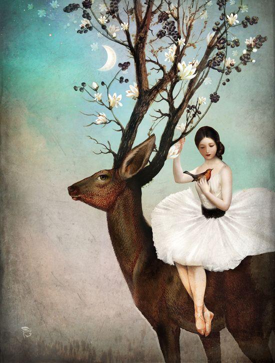 Poster   THE WANDERING FOREST von Christian Schloe