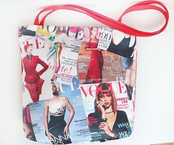 Tote bagSummer bagBeach bagMagazine tote bagShoulder by Piebag