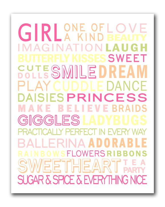 Baby Girl Shower Subway Art: Free Printable Bathroom Art, Free Kitchens Printable Art, Free Printable Bathroom Girls, Baby Shower Gifts, Subway Art Free Printable, Free Printable Baby Girls, Free Printable Subway Art, Free Baby Girls Printable, Families Free Quotes Printable