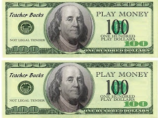 Teacher Bucks!  Type your last name where it says teacher and you have your own personal teacher bucks to use in your classroom.  Freebie!