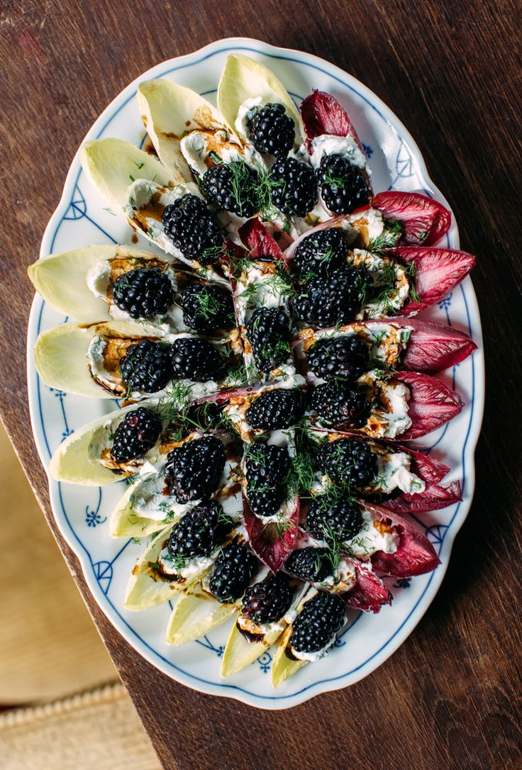 In 2018 I want to: Make this Stuffed Endive Appetizer with Blackberries and Whipped Chèvre