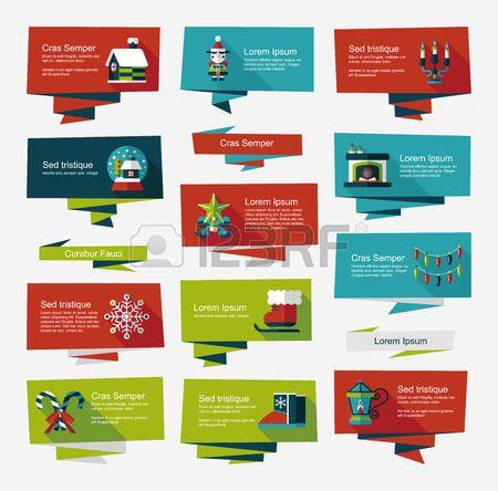 Christmas flat banner set background #flat #design #template #web