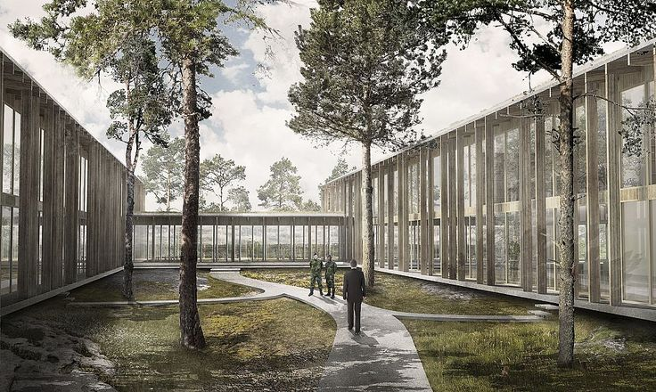 New staff facilities for the Swedish Armed Forces, Gotland, by C.F. Møller Architects