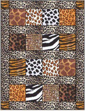 Animal print quilt