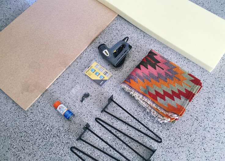 How to Turn a Kilim Rug Into a Modern Bench