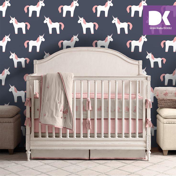 Tek boynuzlu at yani unicorn ya da siz nasıl söylüyorsanız. Bebek odalarının vazgeçilmezi!