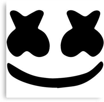 Marshmello Face Canvas Print | Face stencils, Marshmello ...