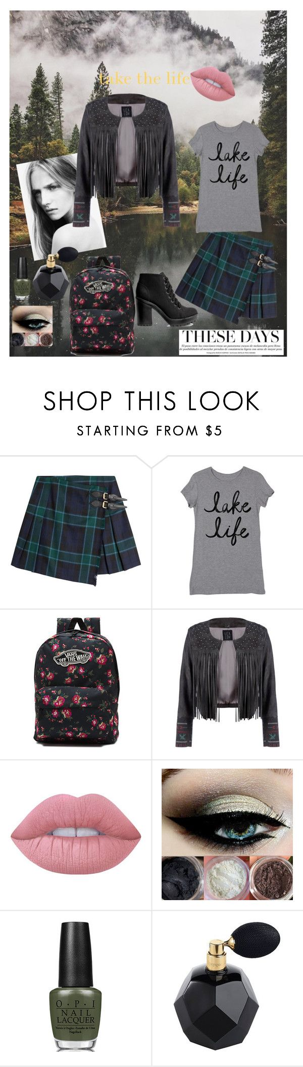 """country style"" by soutzoglou-maria on Polyvore featuring Burberry, Vans, Lime Crime, OPI, H&M and country"