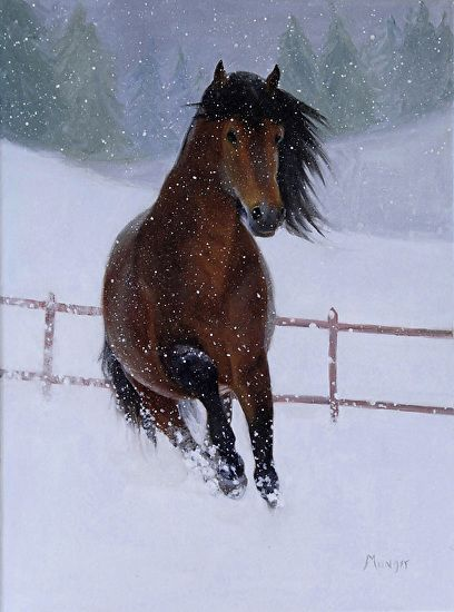 Roseann Munger - Snow Dancer- Oil - Painting entry - January 2013 | BoldBrush Painting Competition