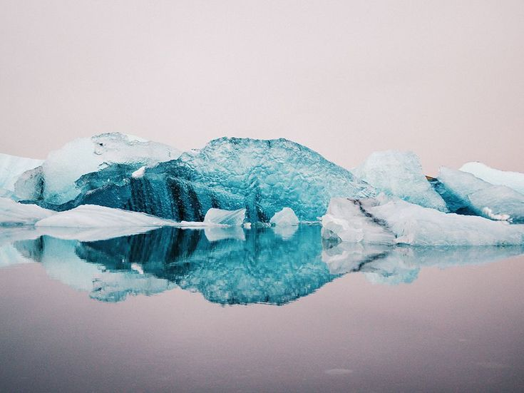 "Freia Lily (photographer) ""still waters of Jökulsárlón,"" a ""glacier lagoon"" in Iceland. From National Geographic."