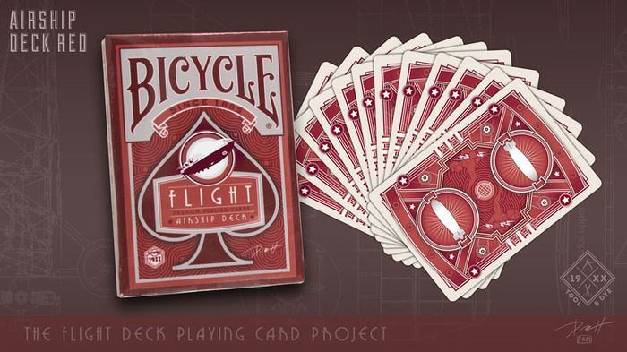 Airship Deck Red .  The Dawn of Aviation Playing Cards by Paul Roman Martinez — Kickstarter