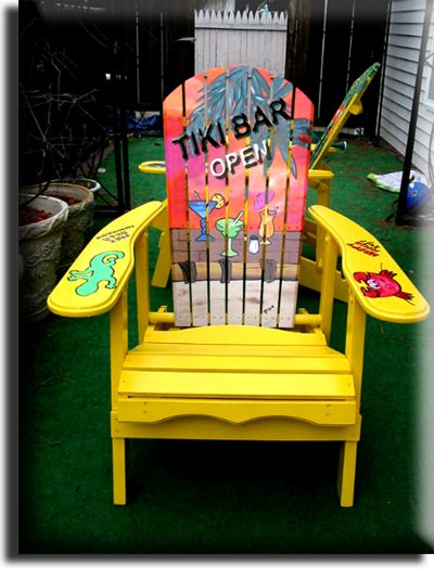 Yellow Adironack Chair Margaritaville Style Catagory Page Of Art Page For  Tropical Wood Art