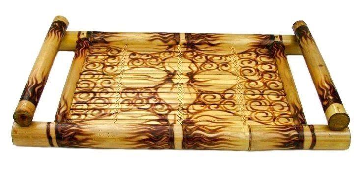 """BAMBUSTABLETT """"SÜDSEE"""" Serviertablett Knietablett Tablett Bambus Tablett Bamboo in Möbel & Wohnen, Kochen & Genießen, Gedeckter Tisch   eBay!"""