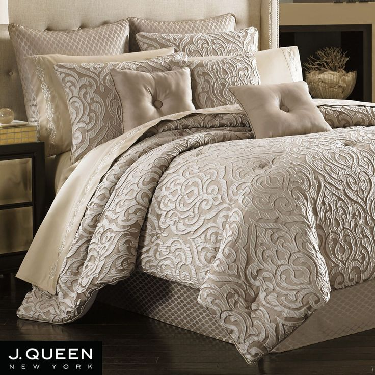 Bought for $210 on sale (orig. $500) - My comforter, king shams and bed skirt - Elegant, neutral pattern that will make a great background for many different accent colors