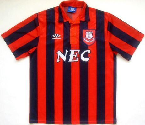 Everton away 1994 - This was the first Everton shirt I wore as a baby