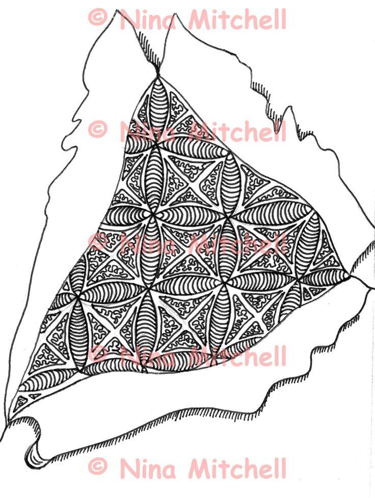 NM - bw - ripped open zentangle
